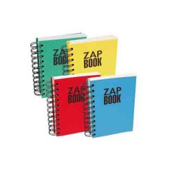 ZAP BOOK A5 Bloc notes recyclé spirales Forever CLAIREFONTAINE