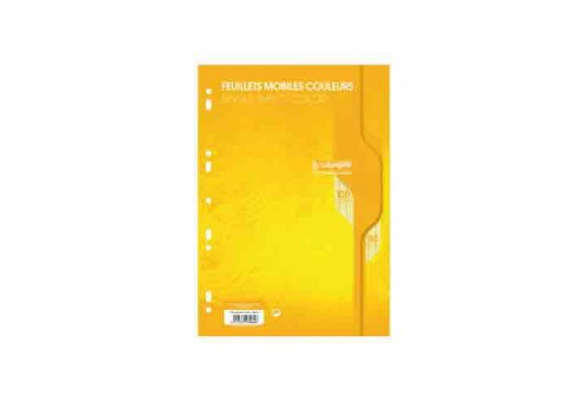Feuillets mobiles A4 Perfo. Univ. seyes 100p 80g Calligraphe CLAIREFONTAINE jaune