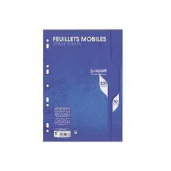 Feuillets mobiles ligne 7000 A4 seyes 200p 80g Calligraphe CLAIREFONTAINE
