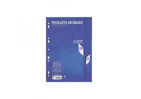 Feuillets mobiles A4 seyes 200p 80g Calligraphe CLAIREFONTAINE