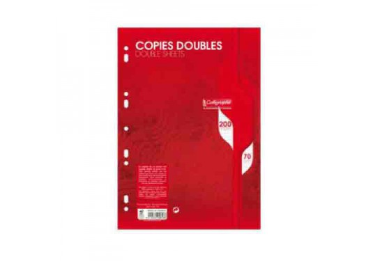 Copies doubles A4 5x5 200p 70g Sans marge Calligraphe CLAIREFONTAINE