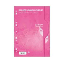Feuillets mobiles A4 Seyes 100p 80g Calligraphe CLAIREFONTAINE rose