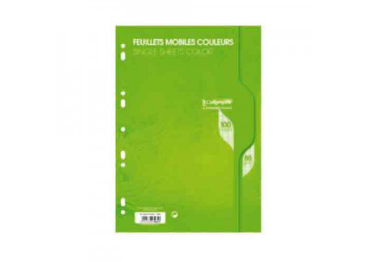 Feuillets mobiles A4 Seyes 100p 80g Calligraphe CLAIREFONTAINE vert