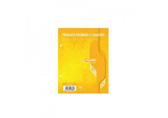 Feuillets mobiles A5 Seyes 100p 80g Calligraphe CLAIREFONTAINE jaune