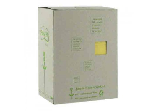 Post-it 100% recyclé jaune 76x127mm Tour 16 blocs de feuilles Boîte distributrice POST-IT