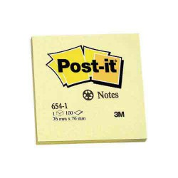 Post-it 100% recyclé jaune 76x76mm le bloc POST-IT