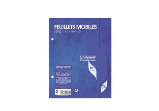 Feuilles simples A5 Seyes 100p 90g Ligne 7000 Calligraphe CLAIREFONTAINE