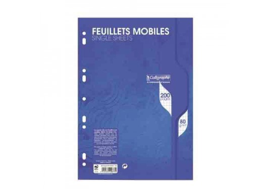 Feuilles mobiles A4 5x5 200p 80g Ligne 7000 Calligraphe CLAIREFONTAINE