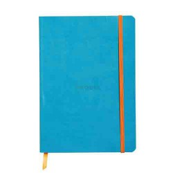 Cahier turquoise broché A5 160pages lignées RHODIARAMA