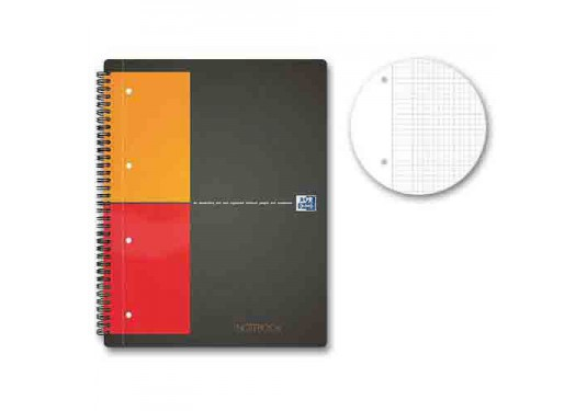 Cahier spirales A4+ 5x5 160pages Notebook OXFORD