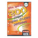 Copies doubles ligne 7000 A4 seyes 200p 90g Calligraphe CLAIREFONTAINE