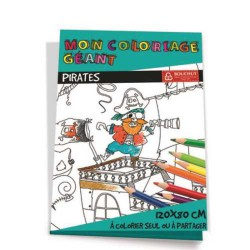 Coloriage géant à colorier Pirates BOUCHUT GRANDREMY