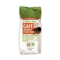 Café moulu bio Arabica d'Altitude 1kg ETHIQUABLE recyclable