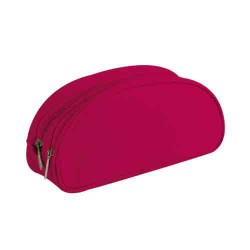 Trousse double compartiments framboise 22x8x10cm CLAIREFONTAINE