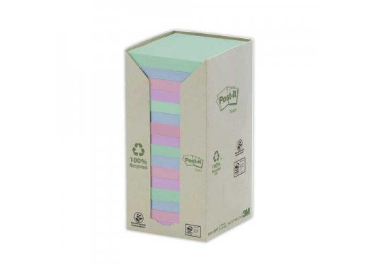 Post-it assortis 76x76mm Tour 16 blocs de feuilles POST-IT