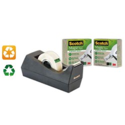 Dévidoir de ruban adhésif écologique en plastique recyclé Scotch Magic Tape SCOTCH