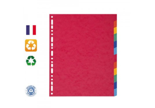 Intercalaires A4 12 positions recyclés Forever EXACOMPTA