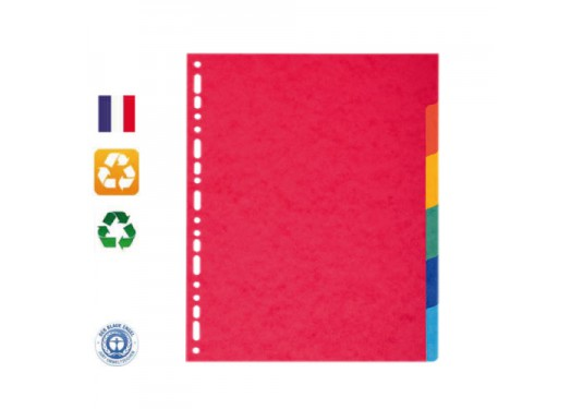 Intercalaires recyclés 6 positions 220 g/m² Forever EXACOMPTA
