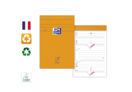 Bloc messages 11x17 80g 80 feuilles / OXFORD