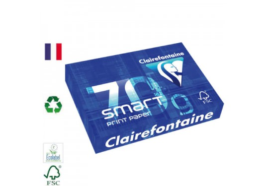 Ramette A4 extra-blanc 70g Smart Print CLAIREFONTAINE