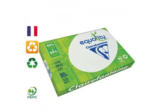 Ramette papier A4 recyclé 80g Equality CLAIREFONTAINE