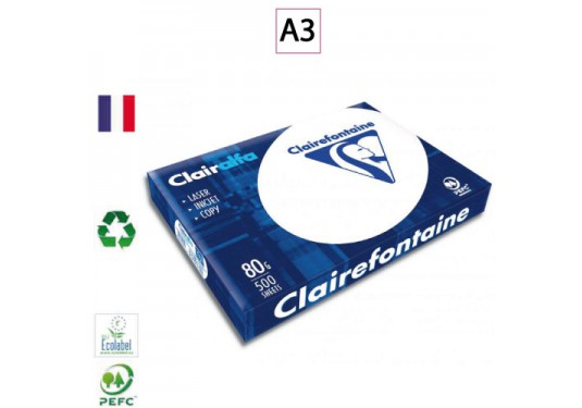 CLAIRALFA Ramette A3 extra blanc 80g CLAIREFONTAINE