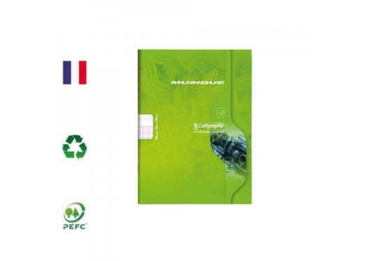 Cahier Musique & Chant 48 pages piqué A5 seyes CLAIREFONTAINE