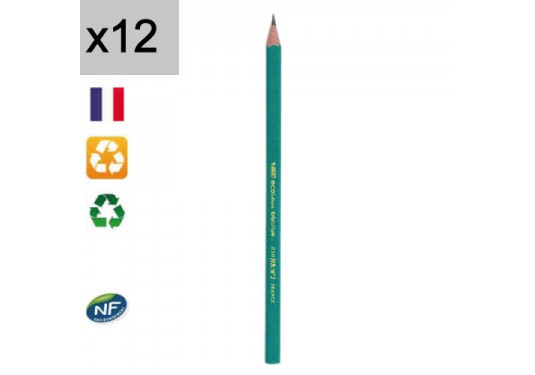 Lot de 12 crayons graphites 650 HB Ecolutions Evolution BIC