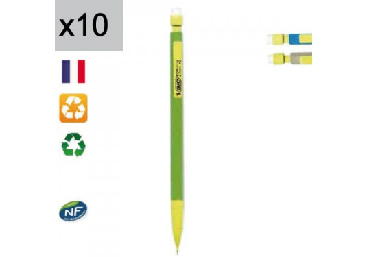 Lot de 10 porte-mines Ecolutions 0,7 mm HB BIC