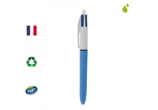 Stylo 4 couleurs pointe moyenne rechargeable BIC
