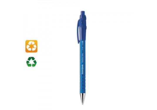 Stylo recyclé Flexgrip retractable bleu PAPERMATE