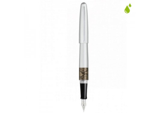 Stylo plume rechargeable Collection Animal Python argent PILOT
