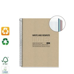 Carnet A5 couverture recyclé Write and Rewrite MIQUELRIUS