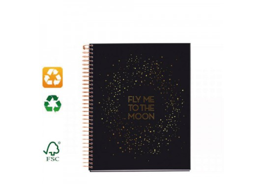 Carnet A5 recyclé Fly to the Moon MIQUELRIUS