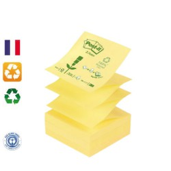 Post-it Z-Notes 100% recyclé jaune 76x76mm - le bloc / POST-IT
