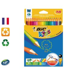 Crayons de couleur x18 Kids Ecolutions Evolution BIC