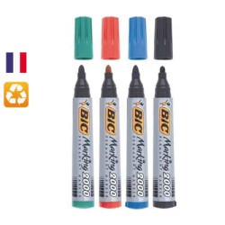 Lot de 4 marqueurs permanents Marking 2000 assortis BIC