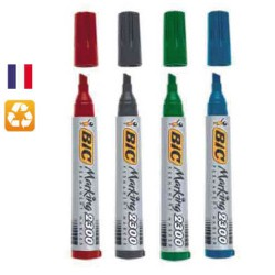 Lot de 4 marqueurs permanents Marking 2300 assortis BIC