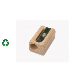 Taille crayons 1 usage en bois recyclable