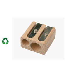 Taille crayons 2 usages en bois recyclable