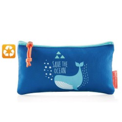 Trousse plate recyclée SAVE THE OCEAN