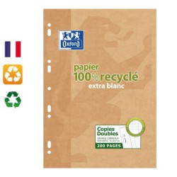 Copies doubles recyclées A4 Seyes 200 pages OXFORD