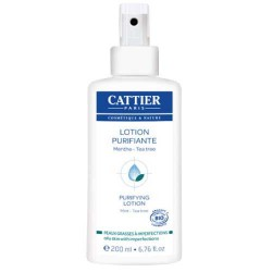 Flacon de la lotion purifiante - Menthe & Tea Tree / CATTIER 100% recyclable